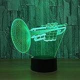 TJLJFTILTIR 3D Night Light Instrument de Musique Petit 3D LED Night Light 7 Couleur...