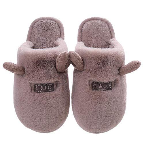 nohbi Zapatillas mullidas de Interior de Invierno,Zapatos de algodón abrigados de Interior...