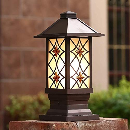 BTBAM Victoria Europese Retro Outdoor Glass Bolder Column Lamp IP54 Waterproof Pillar Light Decoration Gazebo Garden Courtyard Fence Aluminium E27 Muur Voeg Lantern