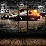 YUANJUN Toyota Supra 90er Sportwagen 5 Stück Leinwand