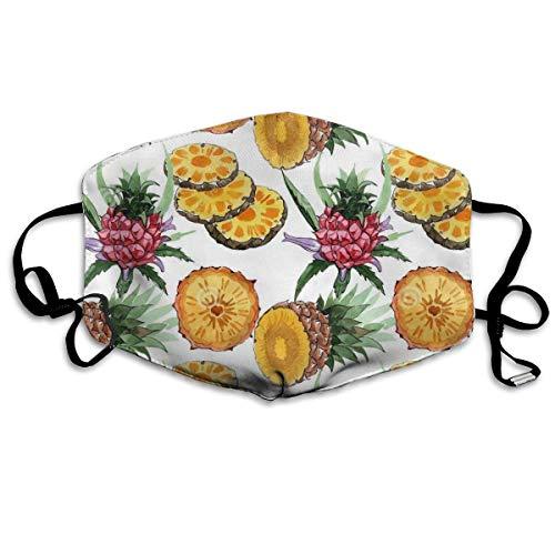 wu Tropische Ananas personalisierte waschbare wiederverwendbare Sicherheit atmungsaktiv. &mal. in, verstellbare Ohrringe für tägliche Aktivitäten