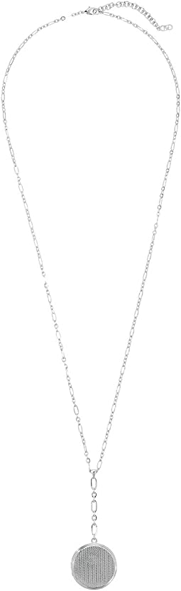 Cole Haan - Basket Weave Locket Y Necklace