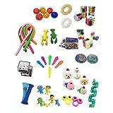 PIGMAMA Juego De Juguetes Sensoriales Fidget Toys Set, 50 Piezas Sensory Fidget Stress Relief Toys Pack Set Paquete De Juguetes, Alivia El Estrés TDAH Adicción Y La Ansiedad Fidget Toy para Adorable