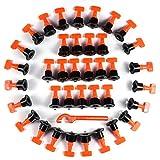 Funmo - 50PCS piastrelle livellatore distanziatori per piastrelle di livellamento sistema con speciale chiave separatore riutilizzabile pavimenti livello tile