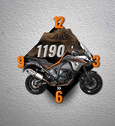 Motorrad-Wanduhr Dekoration für Haus, Büro, Hotel, Restaurant - Motorrad 1190 Adventure - MTO-098 (40 cm)