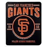 Northwest MLB San Francisco Giants 50x60 Fleece Southpaw DesignBlanket, Team Colors, One Size