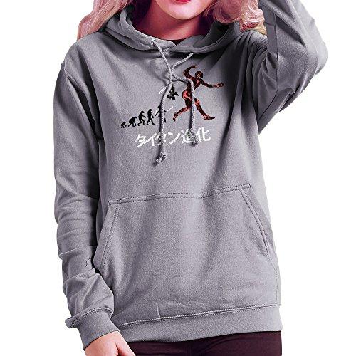 Titan Evolution Attack On Titan Eren Women's Hooded Sweatshirt