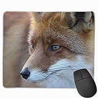 キツネ マウスパッド 25×30 大判 ノンスリップ 防水 ゲーミング おしゃれ マウスの精密度を上がる