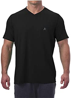 Arctic Cool Men's V-Neck Instant Cooling Moisture Wicking Performance UPF 50+ Short Sleeve Workout Shirt