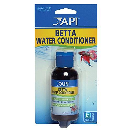 API BETTA WATER CONDITIONER Betta Fish Freshwater Aquarium Water Conditioner 1.7-Ounce Bottle, BETTA WATER COND, 1.7 OZ
