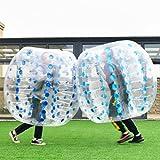 COSTWAY aufblasbar Bumper Ball Fußball Türklopfer Body, Bubble PVC 1,5m, blau