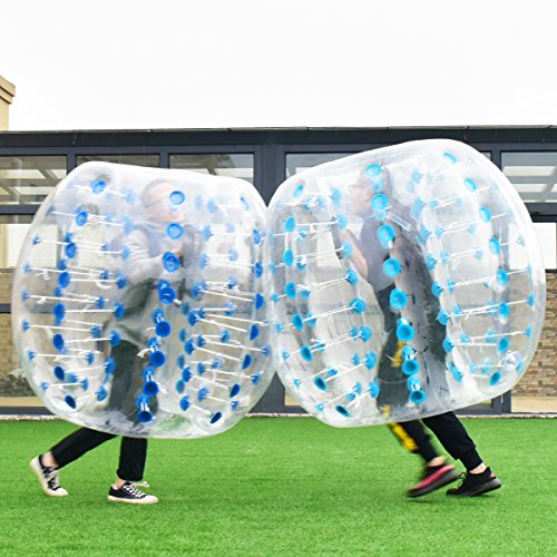 COSTWAY Pelota inflable de fútbol de fútbol de fútbol de 1,5 m (azul)