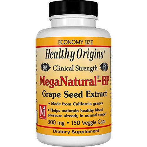 Healthy Origins Mega Natural BP-Grape Seed Extract Multi Vitamins, 300 Mg, 150 Count