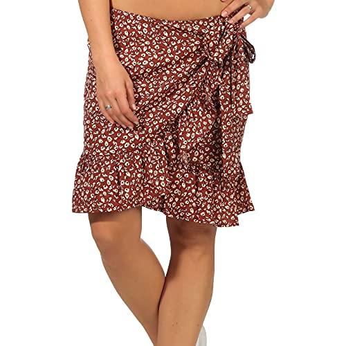 Only ONLOLIVIA Wrap Skirt WVN Noos Falda, Henna/AOP: Dos Tonos de Flores, M para Mujer