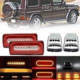 NSLUMO LED Dynamic Tail Brake Light Corner Lamp for M`ercedes G-Class W463 G500 G550 G55