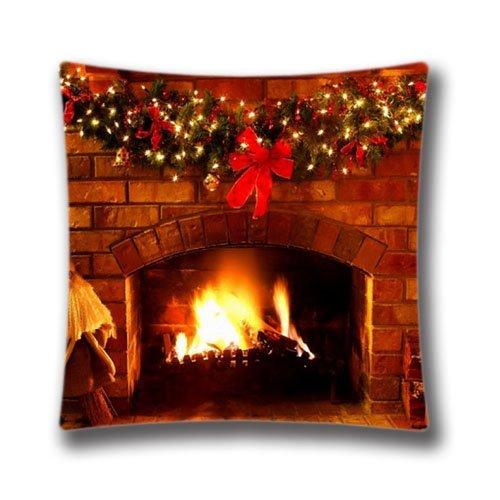 Frohes Neues Jahr Kissenbezug Niedlich Snata Claus Kissenbezug Weihnachtssachen Für Weihnachten Kamin Bildschirmschoner Kissenbezug Standardgröße (Zwei Seiten)