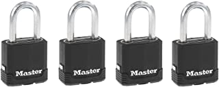 Master Lock M115XQLFCCSEN Magnum Laminated Covered Padlock, Four Pack 1-7/8 Wide Steel 5/16 Diameter, 1-1/2-inch Shackle C...
