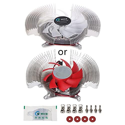Qirun Disipadores de calor del ventilador del refrigerador de la tarjeta de video del ordenador de la PC VGA para NVIDIA ATI Geforce