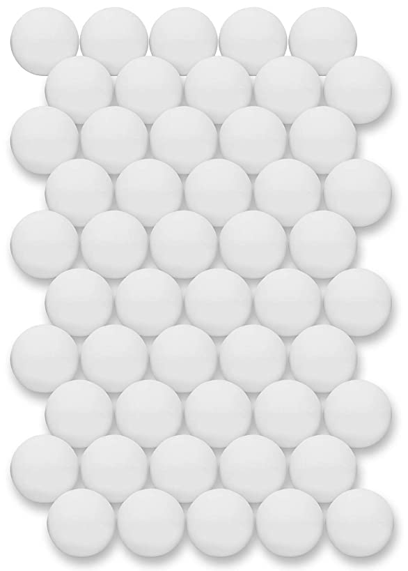 Click N' Play Ping Pong Balls 3-Star Premium Advanced Training Tournament Grade Table Tennis Balls White (Pack of 50)