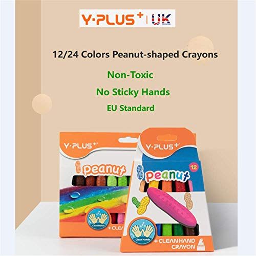 NEK TANING Crayons for Toddlers,12 Colors Non Toxic Crayons Sets Washable Paint Crayons Stackable Toys for Kids 3+ ,Boys and Girls Birthday