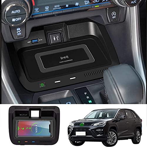 QXIAO Caricabatterie per Telefono Senza Fili, per Toyota RAV4 2020 e Willanda Car Wireless Fast Charging Pad, per Tappetino di Ricarica Rapida per Telefono 10W/7.5W/5W