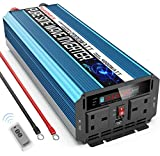 SUDOKEJI Pure Sine Wave Inverter Power Inverter 2000W / 4000W DC 12V to AC 230V/240V converter with wireless remote control dual AC outlets & USB for RV Truck Car