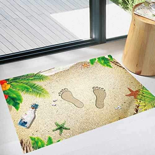 YIDALAO Muurstickers 3D Driedimensionale Strand Leuke Voeten Print Creatieve Deurmat Woonkamer Decoratieve Muurstickers