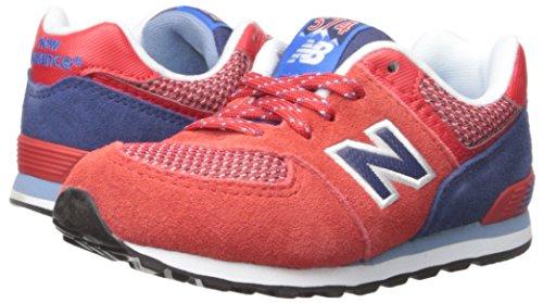 New Balance New Balance KL574 Summit Running Shoe (Infant/Toddler), Red/Blue, 18.5 W EU