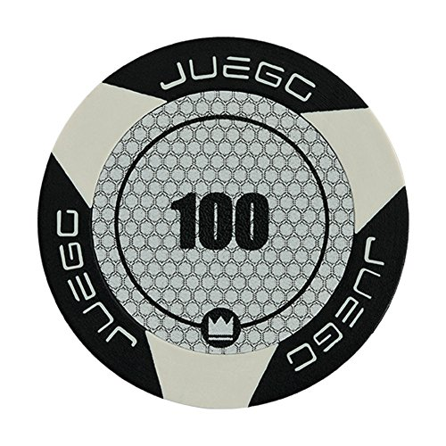 Juego - Fichas de Poker Valor 100 Tournament, Color Negro (ITA Toys JU00128)
