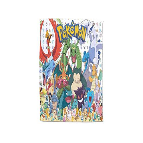 Large Puzzle Pokemon - Toallas de algodón de bambú para mujer, envolturas de spa con cierre y bolsillo, bata de baño y toalla de ducha