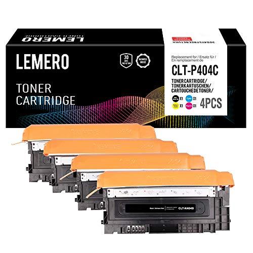 4 LEMERO Toner Kompatibel für Samsung CLT-P404C CLT-K404S CLT-C404S CLT-M404S CLT-Y404S für Samsung Xpress C480 C480W C480FN C480FW C430 C430W (Schwarz/Cyan/Magenta/Gelb)