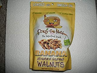 Crazy Go Nuts Superfood Snack All Natural Banana / Walnuts (one 4.5 oz bag)