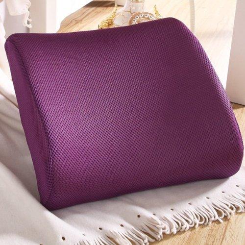 THG Hochelastische Sitzauflage aus Schaumstoff, Sitzkissen für Rückenbeschwerden im Lendenbereich, fürs Auto oder fürs Büro, Violett