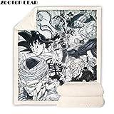 YUYANG Anime Dragon Ball Plüschdecke Dekoration Tagesdecke Casual Fleece Überwurf Decke BZKH1200, Überwurf 127 x 152 cm