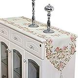 XFentech Chemins de Table - Élégant Rétro Brodé Floral Décoration de Meubles - Décorations D'événement de Fête de Mariage, Style 05, 40x176cm