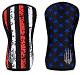 Bear KompleX Knee Sleeves (Sold AS A Pair of 2) Compression and Support for Weightlifting, Powerlifting and Weight Training - 7mm Neoprene Sleeve for The Best Squats - Women & Men - by, Stars 7mm XL