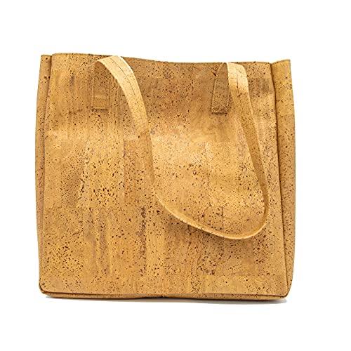 CAPTAIN CORK Odette - Bolsa de corcho para la compra, piel vegana, bolsa de corcho, bolsa vegana, bolso de mano, corcho, bolsa vegana, bolsa vegana, hecha a mano en Portugal