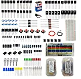 Robotbanao Power Component Kit for Project | Electronic Components - Resistors, Capacitors, Transistors, LED, Diodes, Breadboard, Wire Switch