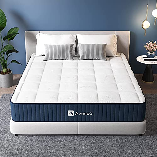 Avenco King Size Mattress, Supportive Foam and Pocket Sprung Mattress, Breathable Tencel Fabric, Cooling, 5ft Mattress King Size, Hybrid Mattress, 20cm Height, Edge Support