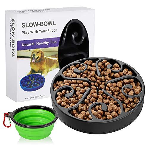 AIIYME Futternapf Hund und Faltbare Hundenapf Set, Zwei Packungen,eine Interessante Interaktive Dog Food Bowl mit Hundenapf Faltbar für Hunde und Katzen