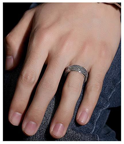 Anillo para hombre de plata S925 con índice de sol en 3D, anillo de dedo para regalo, recuerdo de joyería para parejas de boda, 123, color, No.18