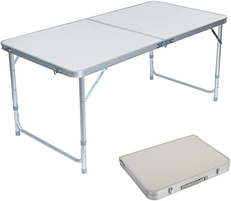 Lovinland Folding Table Portable Camping Table 3 4 6 Ft Aluminum Foldable Table For Picnic Party Dining 4 Ft