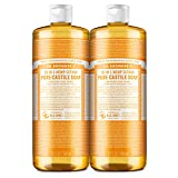 Dr. Bronner's - Pure-Castile Liquid Soap (Citrus, 32 ounce, 2-Pack) - Made with Organic Oils, 18-in-1 Uses: Face, Body, Hair, Laundry, Pets and Dishes, Concentrated, Vegan, Non-GMO