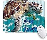KAPANOU マウスパッド、かわいい海の野生生物のスプラッシュ顔料の汚れ面白い水彩イラスト おしゃれ 耐久性が良い 滑り止めゴム底 ゲーミングなど適用 マウス 用ノートブックコンピュータマウスマット