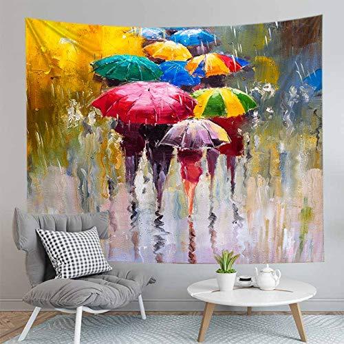 PPOU Tapiz con Estampado de Pintura en Color 3D, tapete de Yoga, montado en la Pared, decoración de la Pared del hogar, Manta, Tapiz de Tela de Fondo, A4 73x95cm