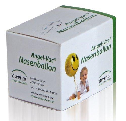 Angel-Vac Nasenballon für Kleinkinder mit 5 Ersatzballon für den Druckausgleich im Mittelohr Angel Vac, Awenar