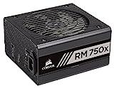 Corsair RM750x Alimentatore PC, Completamente Modulare, Fattore Forma ATX, 80 Plus Gold, 750 Watt, EU, Serie RMX, 16 x 15 x 8,6 cm, Nero