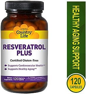 Country Life Resveratrol Plus, Antioxidant - 120 Vegetarian Capsules