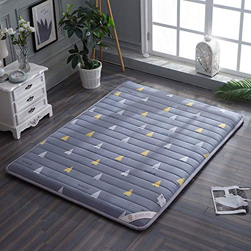 Sleeping Mat, Japanese Traditional Tatami Futon Mattress, Folding Student Dorm Mattress Cover Easy Storage Rollable Guest Bed J 100x200cm (39x79inch)
