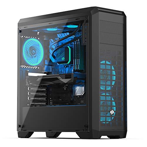 Sedatech PC Gaming Advanced AMD Ryzen 7 2700X 8X 3.7Ghz, Radeon RX550 2Gb, 16Gb RAM DDR4, 500Gb SSD NVMe M.2 PCIe, 2Tb HDD, USB 3.1, CardReader. Ordenador de sobremesa, Win 10